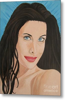 Metal Print featuring the painting Liv Tyler Painting Portrait by Jeepee Aero