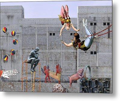 Live Circus At Heaven's Door Metal Print by Maria Jesus Hernandez