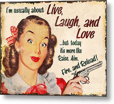 Live Laugh Love Metal Print by JQ Licensing