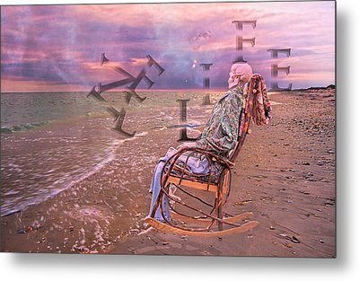 Live Life Metal Print by Betsy Knapp