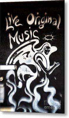 Live Original Music Metal Print by John Rizzuto