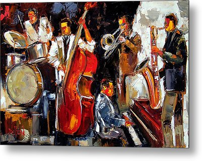 Living Jazz Metal Print