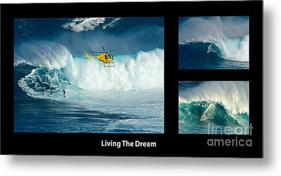 Living The Dream With Caption Metal Print by Bob Christopher