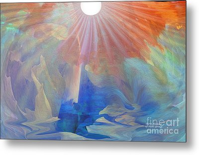 Living Under The Umbrella Of Light Metal Print by Sherri's Of Palm Springs