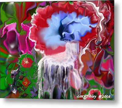 Metal Print featuring the digital art Living Water by Loxi Sibley