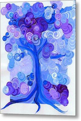 Liz Dixon's Tree Blue Metal Print by First Star Art