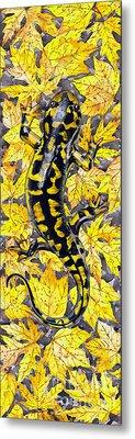 Lizard In Yellow Nature - Elena Yakubovich Metal Print by Elena Yakubovich