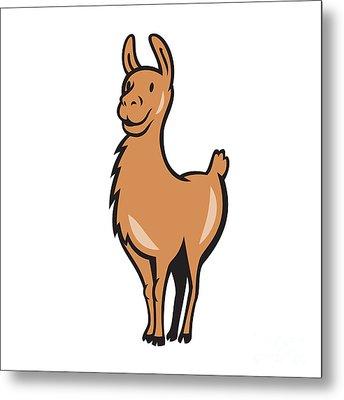 Llama Cartoon Metal Print