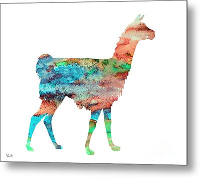 Llama Metal Print by Luke and Slavi
