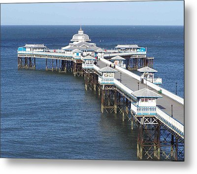Metal Print featuring the photograph Llandudno Pier by Christopher Rowlands