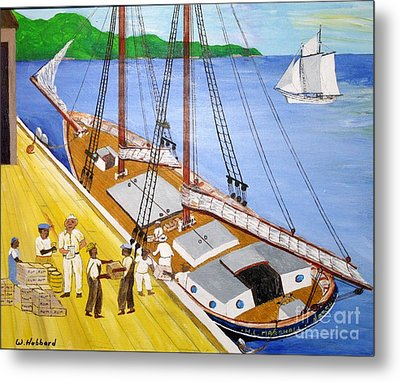 Loading The Sch. H.l.marshall At Jamaica Metal Print