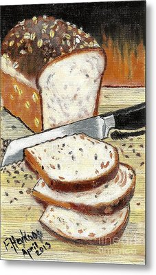 Loaf Of Bread Metal Print