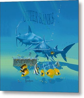 Loan Sharks Metal Print by Kenneth F Aunchman