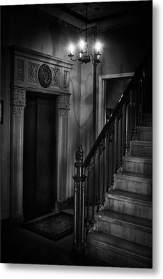 Lobby Elevator At The Villa Metal Print