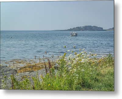 Metal Print featuring the photograph Lobster Boat At Rest by Jane Luxton