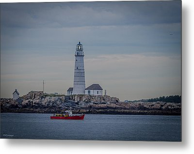 Lobster Boat Passing By Metal Print