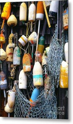 Lobster Buoys Fishermans Shed Metal Print by Thomas R Fletcher