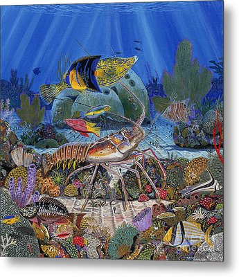 Lobster Sanctuary Re0016 Metal Print