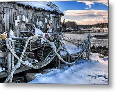 Lobster Shack At Cape Neddick  Metal Print