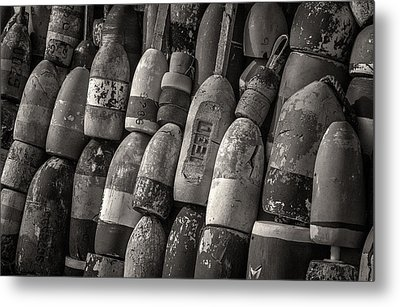 Lobster Trap Bouys Metal Print by Fred LeBlanc