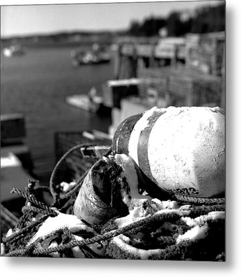 Lobster Traps 07 Metal Print by Timothy Bischoff