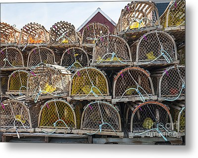 Lobster Traps Metal Print by Elena Elisseeva