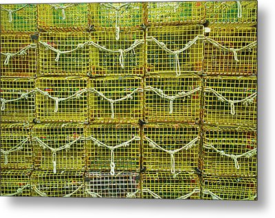 Lobster Traps, Rockport, Essex County Metal Print by Panoramic Images