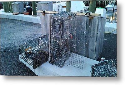 Lobster Traps Metal Print by Scott Decker