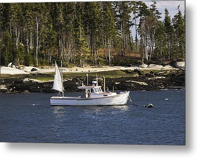 Lobsterboat In Spruce Head Maine Metal Print by Keith Webber Jr
