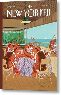 Lobsterman's Special Metal Print by Bruce McCall