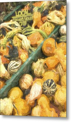 Local Glazed Gourds Painterly Effect Metal Print