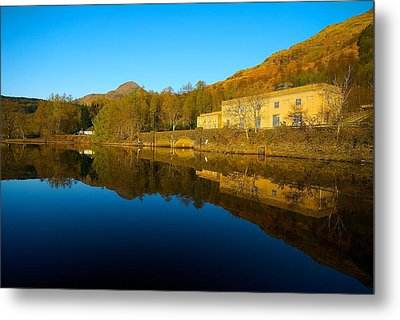 Metal Print featuring the photograph Loch Lomond Power Station by Stephen Taylor