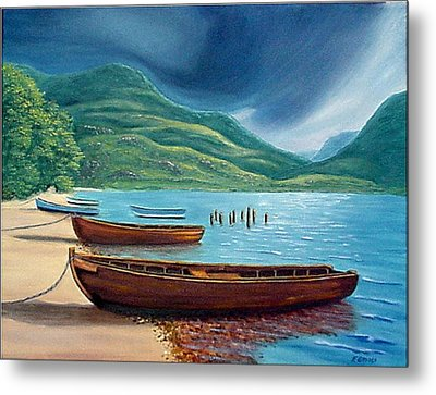 Loch Maree Scotland Metal Print by Fran Brooks