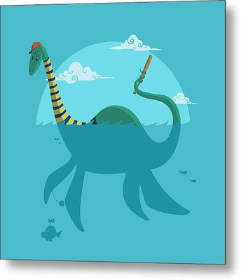 Metal Print featuring the digital art Loch Ness Monster by Michael Myers