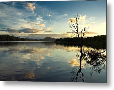 Metal Print featuring the photograph Loch Rannoch Relflections by Stephen Taylor