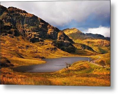 Loch Restil. Rest And Be Thankful. Scotland Metal Print by Jenny Rainbow