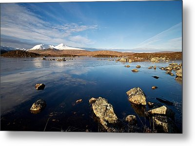 Metal Print featuring the photograph Lochan Na Achlaise by Stephen Taylor