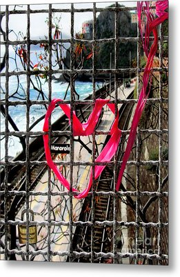 Metal Print featuring the photograph Lock And Love.cinque Terre.italy by Jennie Breeze