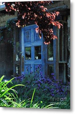 Locked Blue Door  Metal Print