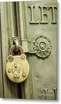 Locked Metal Print by Lee Wellman