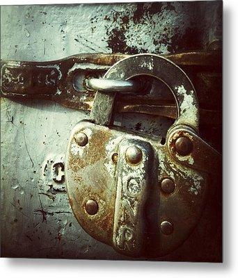 Locked Metal Print by Nathalie Longpre