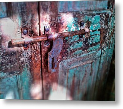 Locked Metal Print by Olivier Calas