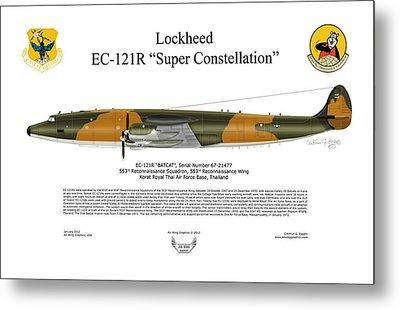 Lockheed Ec-121r 553rs Korat Rtafb Metal Print