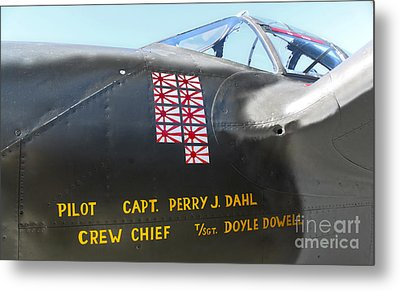 Lockheed P-38 - 162 Skidoo - 03 Metal Print by Gregory Dyer