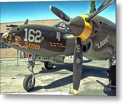 Lockheed P-38 - 162 Skidoo - 07 Metal Print by Gregory Dyer