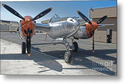 Lockheed P-38l Lightning Honey Bunny  - 01 Metal Print by Gregory Dyer