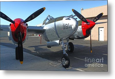Lockheed P-38l Lightning Honey Bunny  - 02 Metal Print by Gregory Dyer