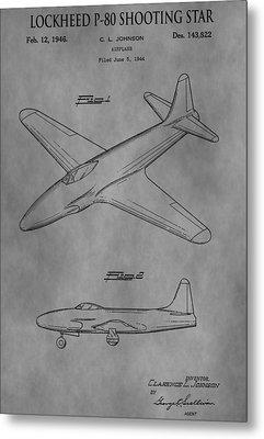 Lockheed Patent Metal Print by Dan Sproul