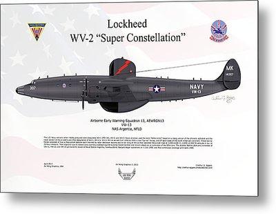 Lockheed Wv-2 Super Constellation Aewron13 Metal Print by Arthur Eggers