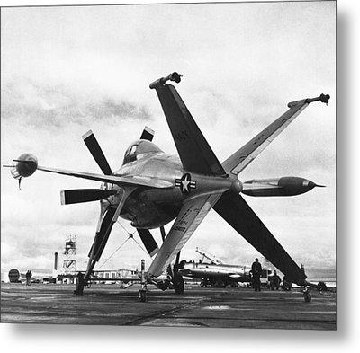 Lockheed's Vtol Aircraft Metal Print by Underwood Archives